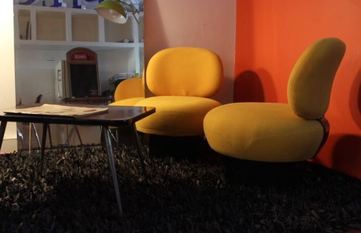 fauteuil d 39 inspiration pierre paulin vintage by fabichka. Black Bedroom Furniture Sets. Home Design Ideas