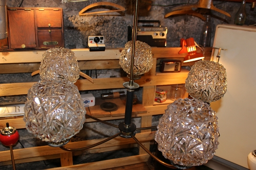 suspension lustre ann e 50 4 vintage by fabichka. Black Bedroom Furniture Sets. Home Design Ideas