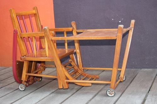 chaise haute pour b b vintage by fabichka. Black Bedroom Furniture Sets. Home Design Ideas