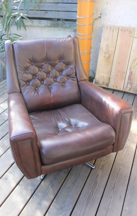 fauteuil pivotant 1960 vintage by fabichka. Black Bedroom Furniture Sets. Home Design Ideas