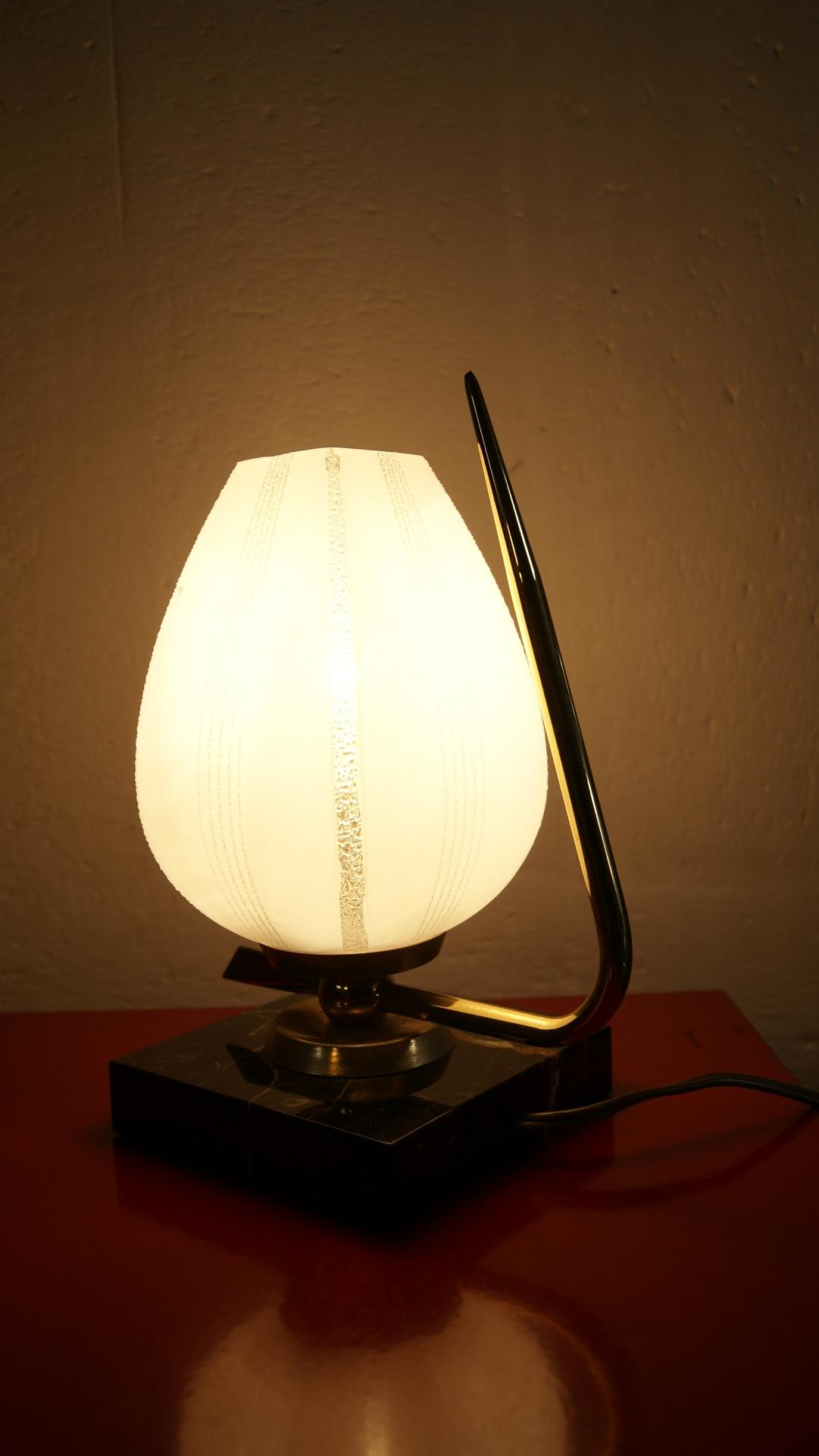 Lampe de chevet art d co vintage by fabichka - Interrupteur de lampe de chevet ...