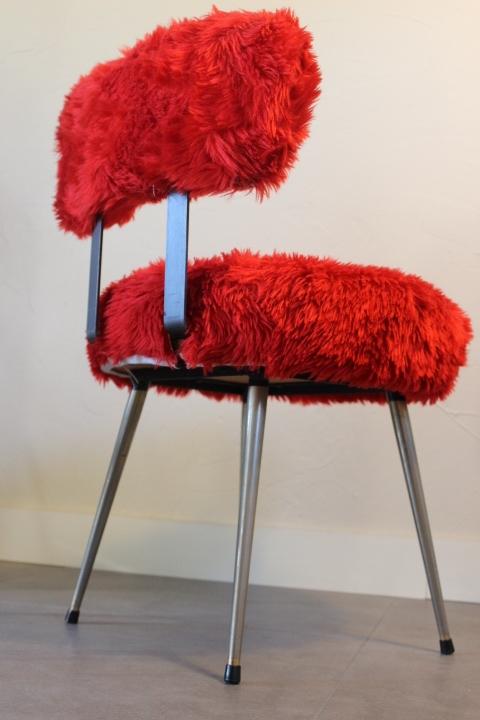 chaise moumoute by Pelfran 1970