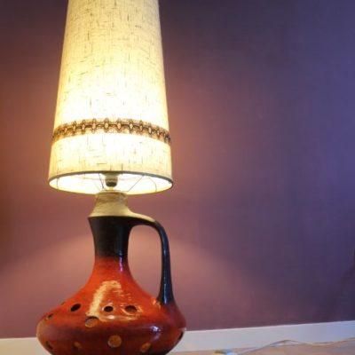 Lampe à poser vintage pied céramique
