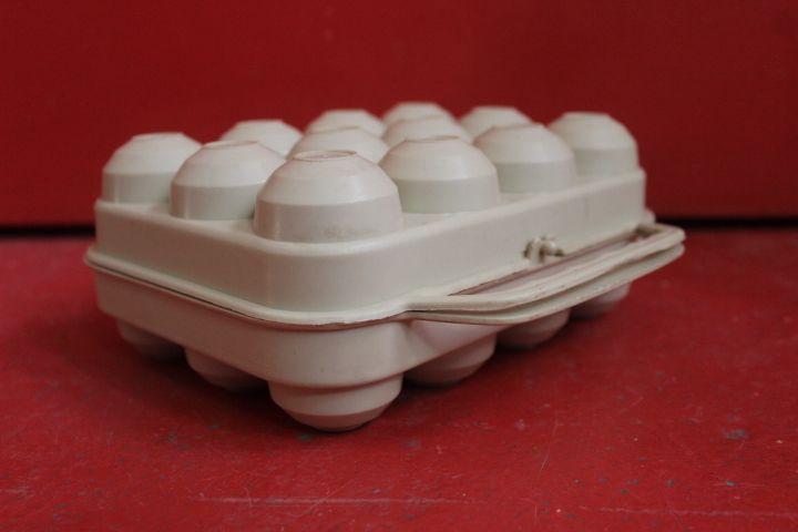 boite à oeufs en plastique dur contenance 12 oeufs