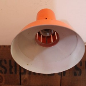 spot orange en métal seventies