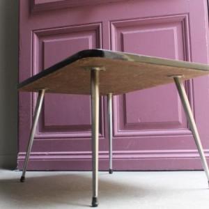 table basse formica pieds chromés 1960