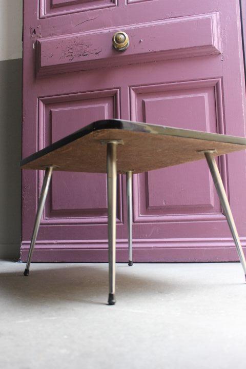 table basse formica pieds chrom s fusel s 4 vintage by fabichka. Black Bedroom Furniture Sets. Home Design Ideas