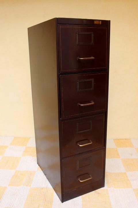 Ancien meuble m tallique ron o for Meuble classeur ancien