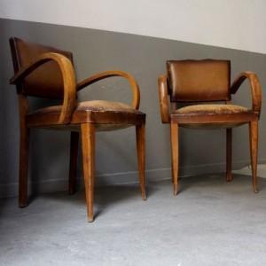 fauteuil bridge 1950 fifties vintage