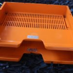 Casiers pour courriers plastique orange