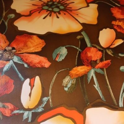 Tapisserie à fleurs 1970