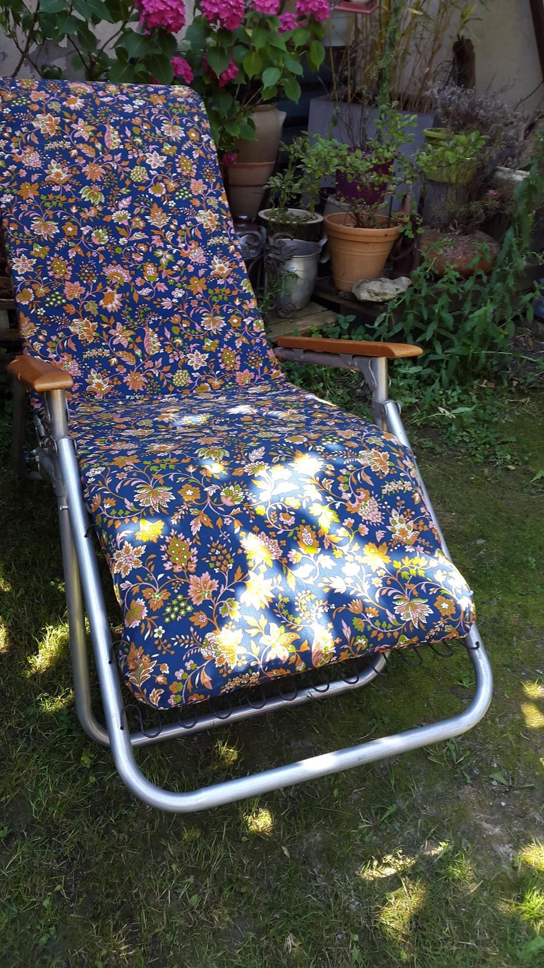 chaise longue pliante 1960 vintage by fabichka. Black Bedroom Furniture Sets. Home Design Ideas