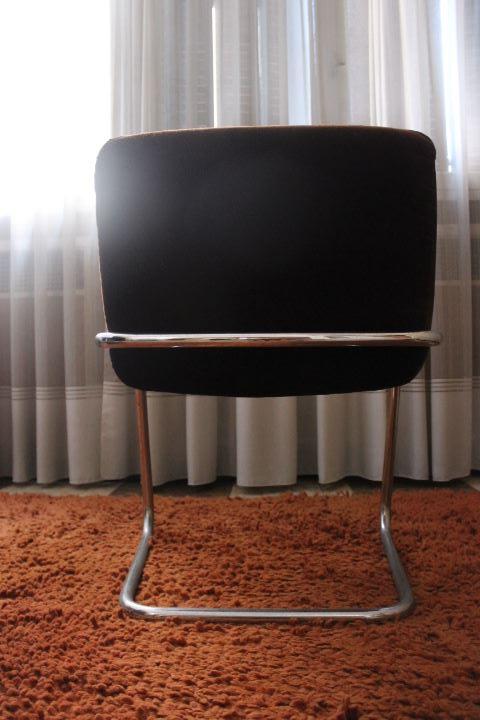 fauteuil de bureau vintage rev tement tissu et structure. Black Bedroom Furniture Sets. Home Design Ideas