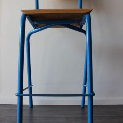 chaise haute bois et métal