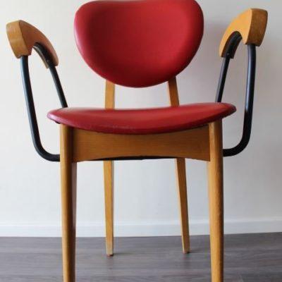 Chaise vintage avec accoudoirs marque Stella design scandinave