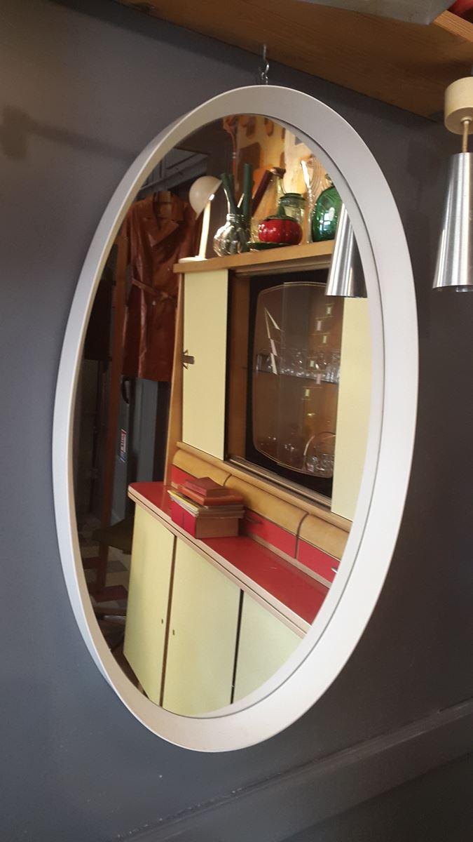Miroir coiffeur ovale des an es 70 design contemporain et for Miroir annee 70