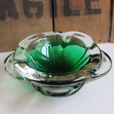 cendrier en verre de murano vintage 1960