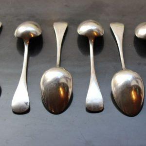 ancienne cuillere en métal argenté