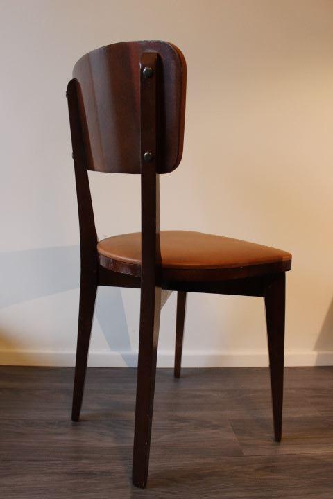 Chaise design scandinave vintage des ann es 60 rev tu de ska - Chaise bois scandinave ...