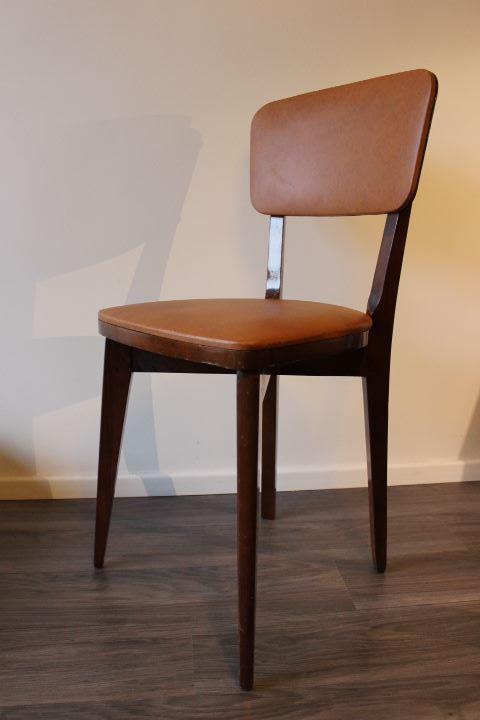 Chaise design scandinave vintage des ann es 60 rev tu de ska - Chaise bois design scandinave ...
