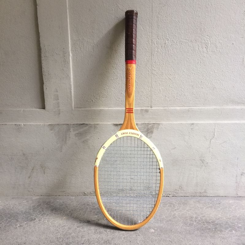 raquette de tennis cadre bois de marque dunlop mod le maxply fort. Black Bedroom Furniture Sets. Home Design Ideas