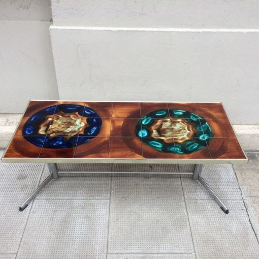 Table basse céramique Vallauris 1970