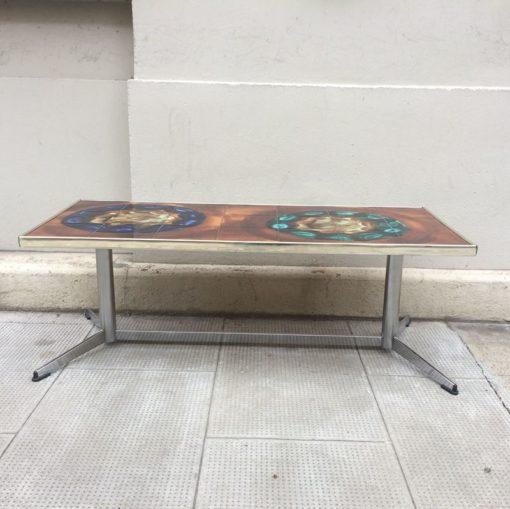 Table basse céramique Vallauris vintage