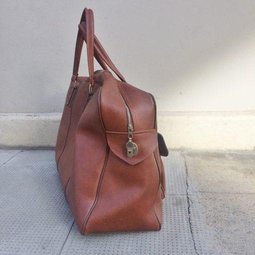 sac bagage en skaï vintage