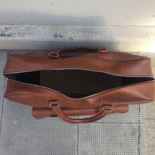 Ancien sac de voyage en simili cuir