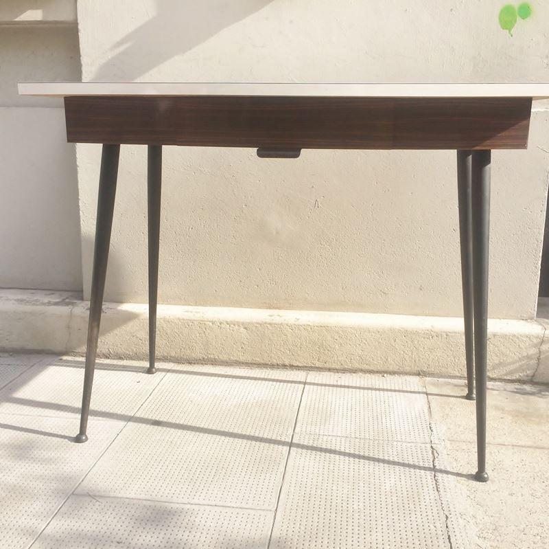 Ancien bureau d 39 colier ann es 50 en m tal et bois - Table cuisine formica annee 50 ...