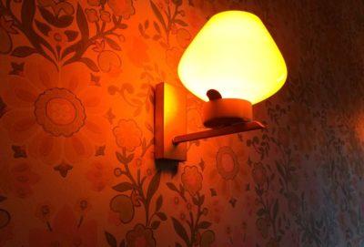 Applique murale vintage opaline orange