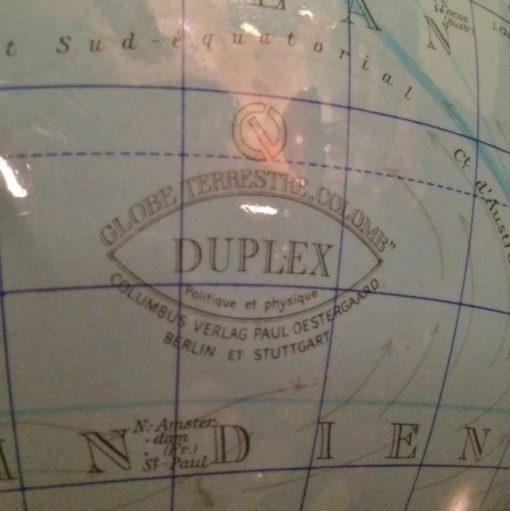 Ancien globe terrestre Colomb duplex