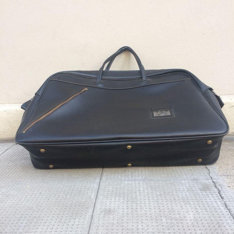 Sac voyage Lafuma vintage simili cuir noir