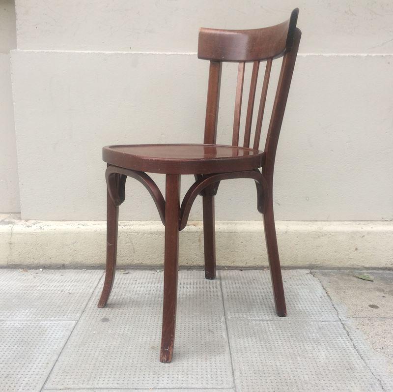 chaise bistrot baumann datant des ann es 50. Black Bedroom Furniture Sets. Home Design Ideas