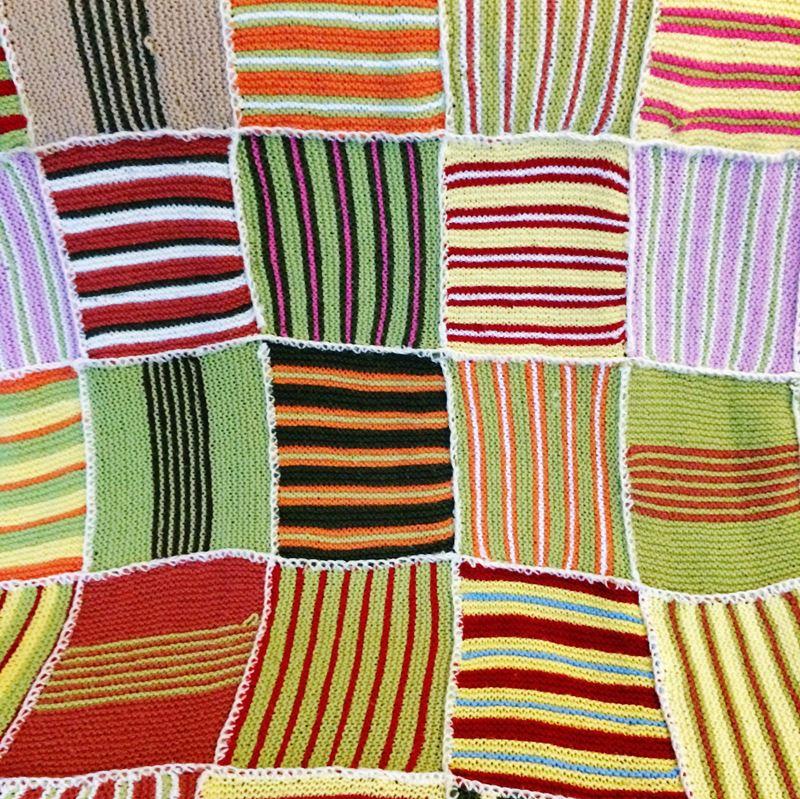 Ancien plaid laine