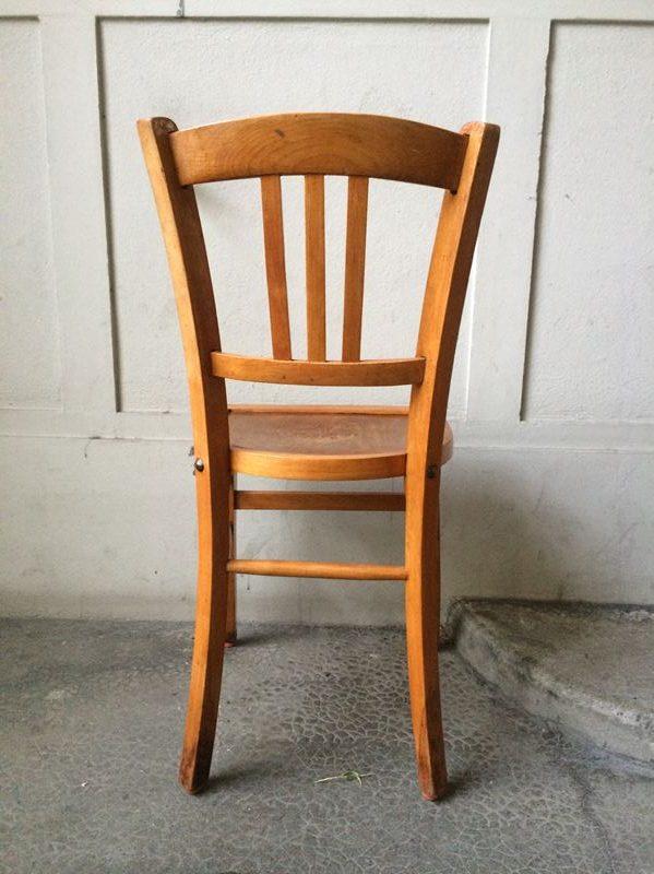 Ancienne Chaise Bistrot En Bois Couleur Miel