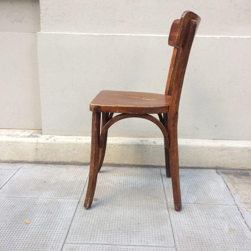 ancienne chaise bistrot baumann datant des ann es 50. Black Bedroom Furniture Sets. Home Design Ideas