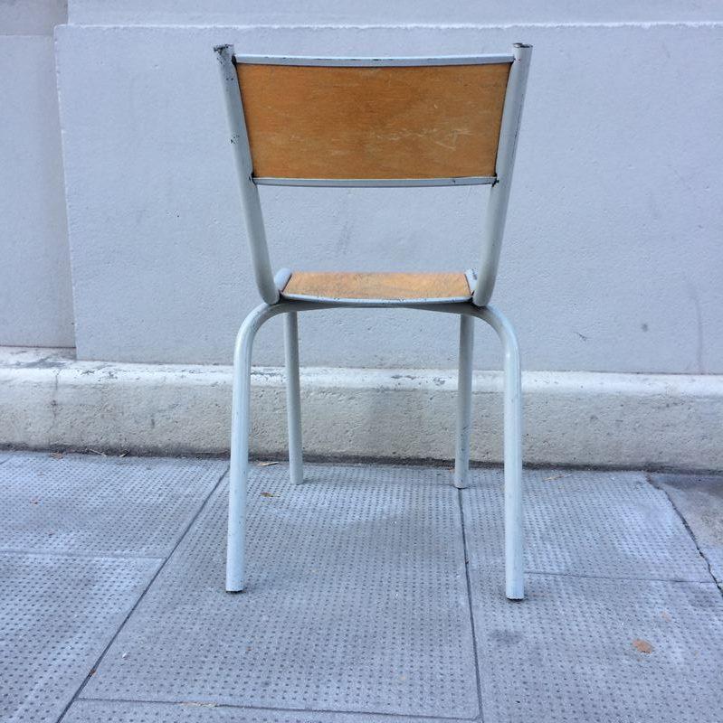 Petite Chaise Ecolier Vintage Datant Des Annees 60