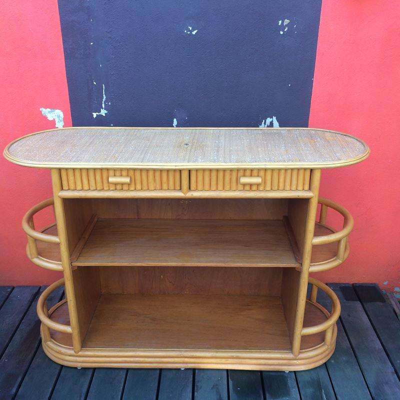 bar vintage en bambou datant des ann es 80. Black Bedroom Furniture Sets. Home Design Ideas