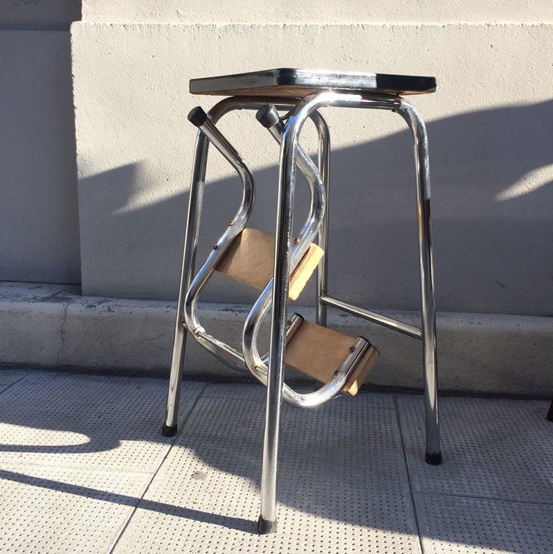 tabouret escabeau marche pieds formica vintage. Black Bedroom Furniture Sets. Home Design Ideas