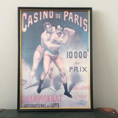 Affiche encadrée vintage