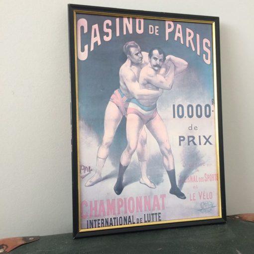 Affiche championnat international de lutte