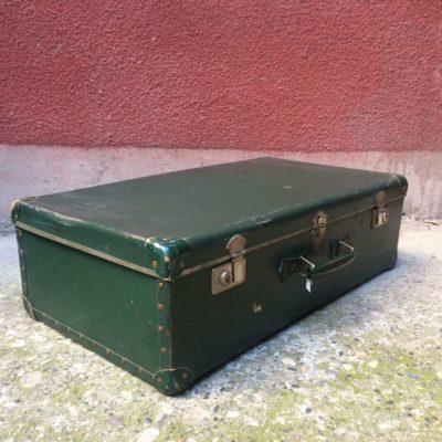 ancienne valise fibre vulcanisé