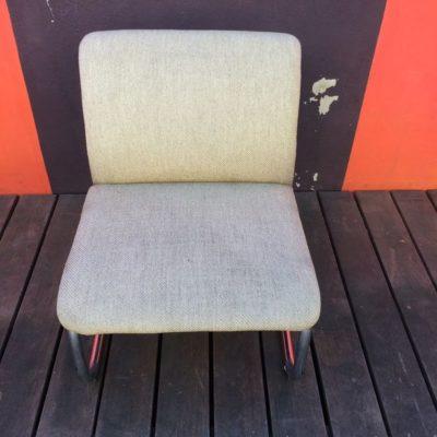 fauteuil vintage beige chiné