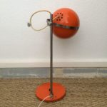 Lampe Eyeball orange vintage