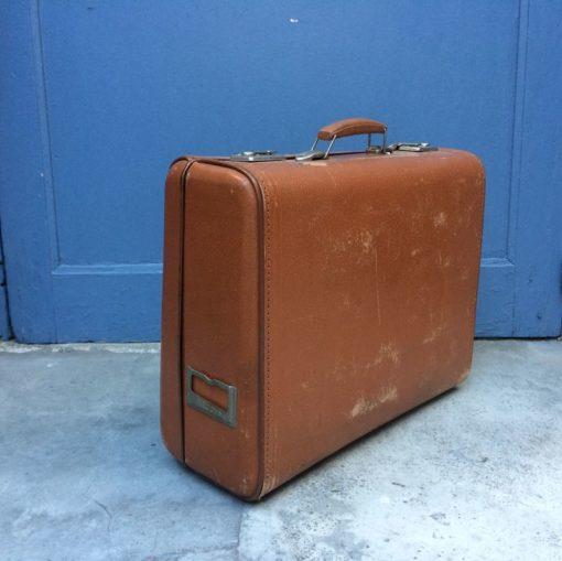 Valise en carton vintage marque record