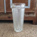Vase ancien en verre ciselé