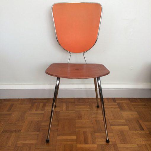 chaise vintage métal chromé