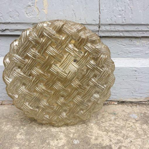 Ancienne applique ronde en verre