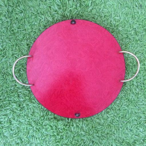 Plateau formica rouge vintage